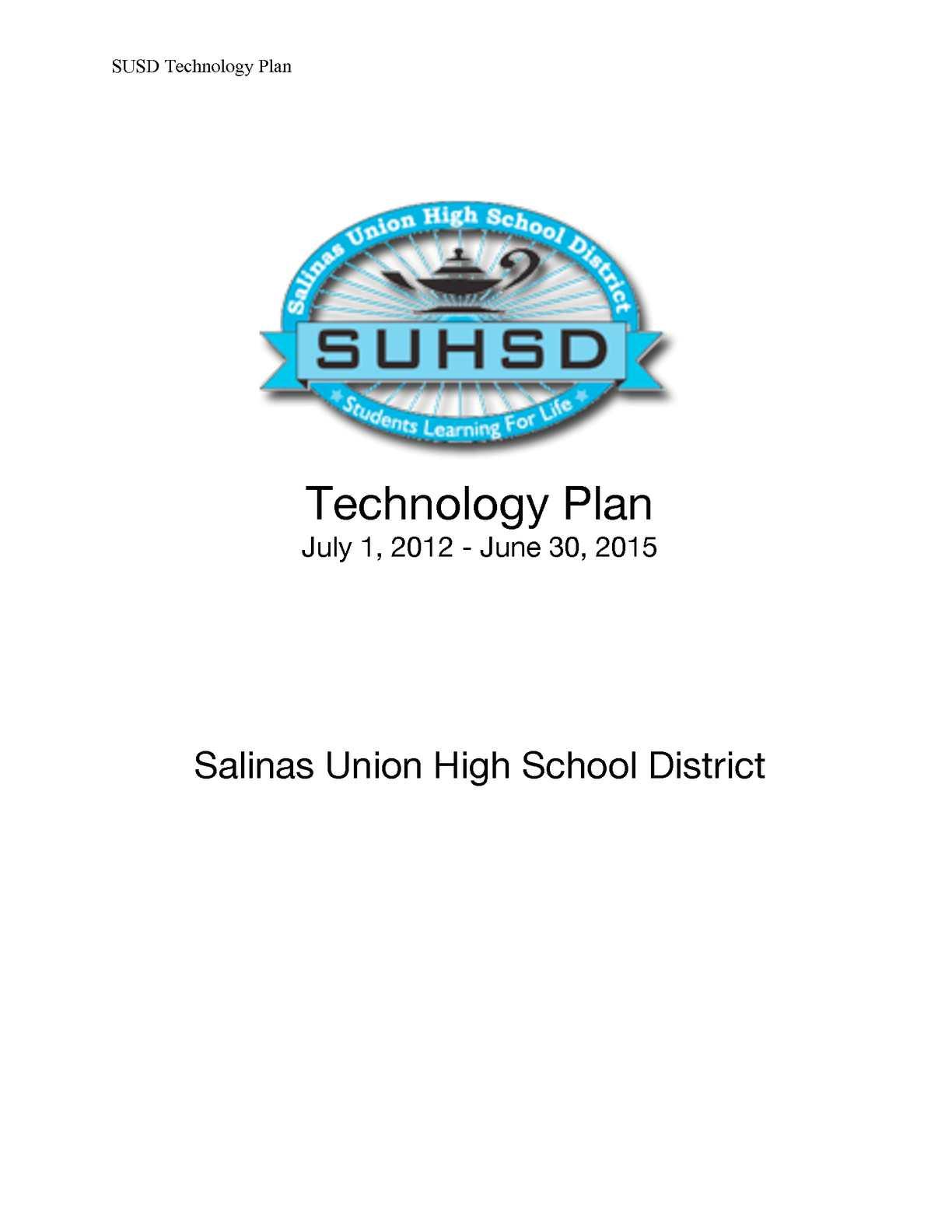 Calaméo – Salinas Union High School District Technology Plan Inside Salinas Union High School District Calender