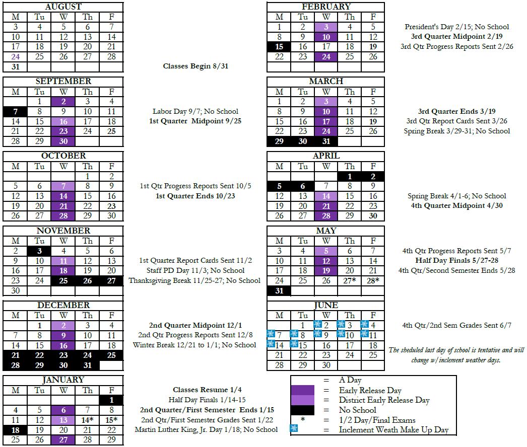 Calendar - Fort Zumwalt West High School intended for Fort Zumwalt Academic Calendar