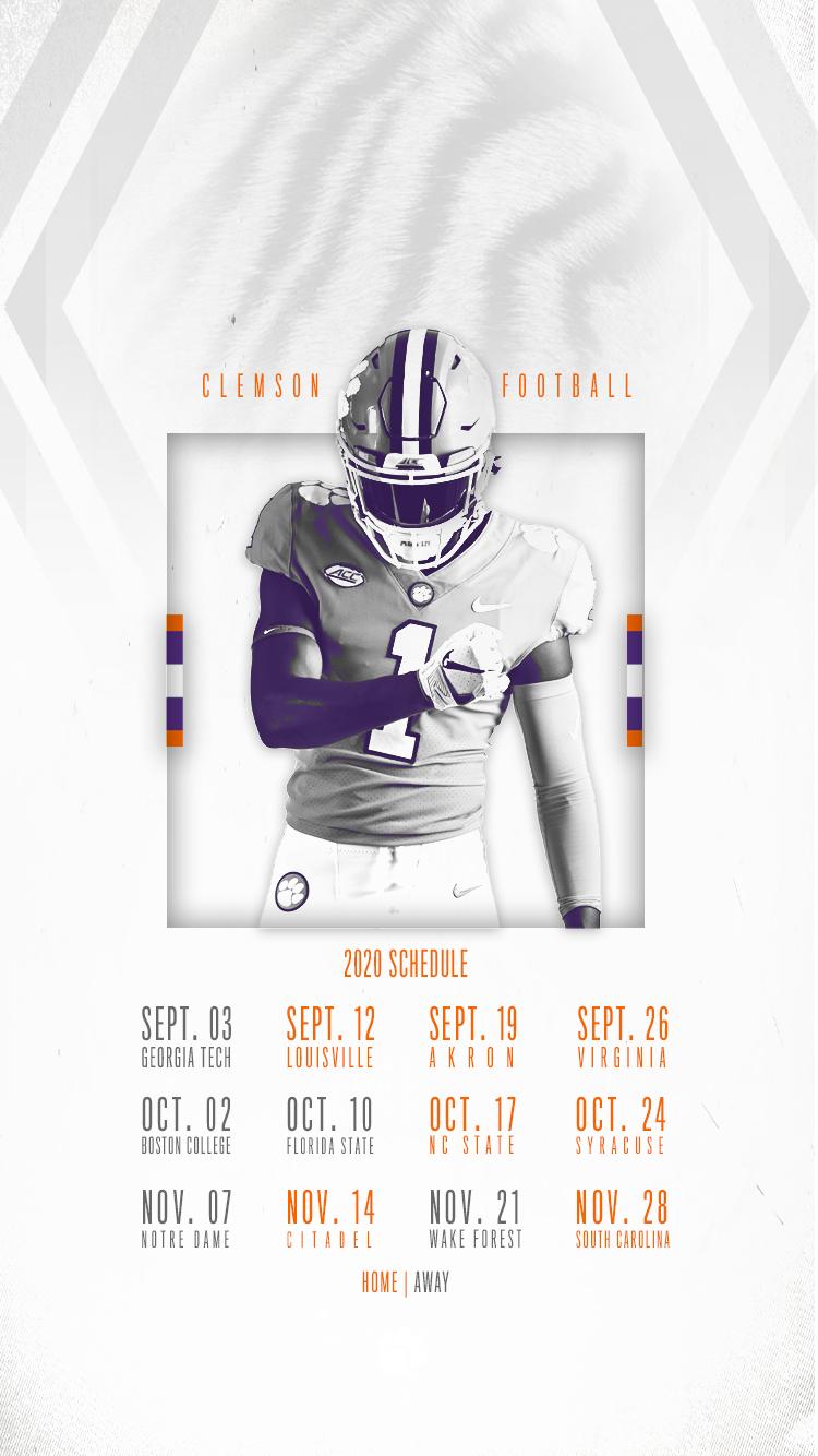Clemson Announces 2020 Football Schedule – Clemson Tigers Throughout Full Sail University Spring Calendar 202 2021
