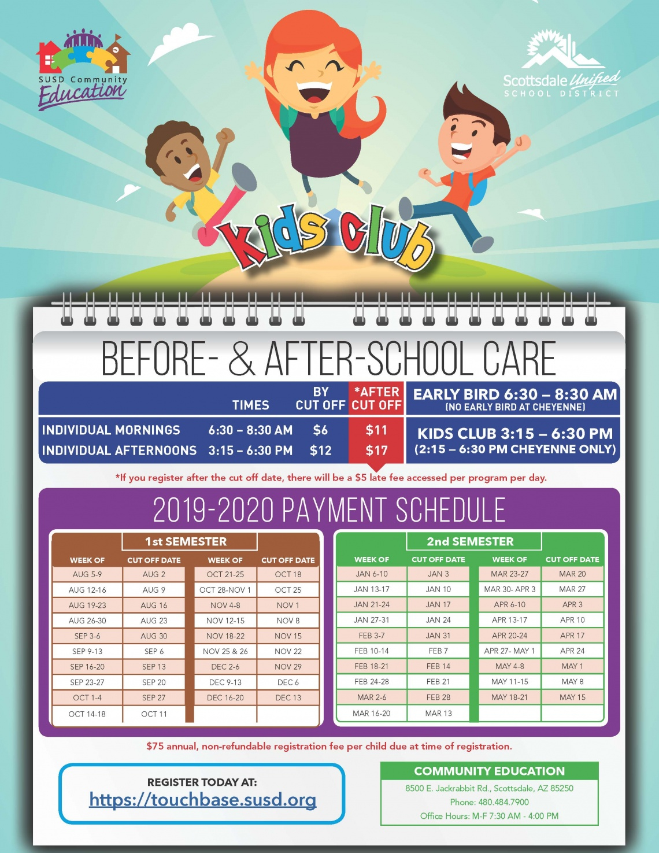 Community Education / Kids Club With Regard To Scottsdale Unified School District Calendar