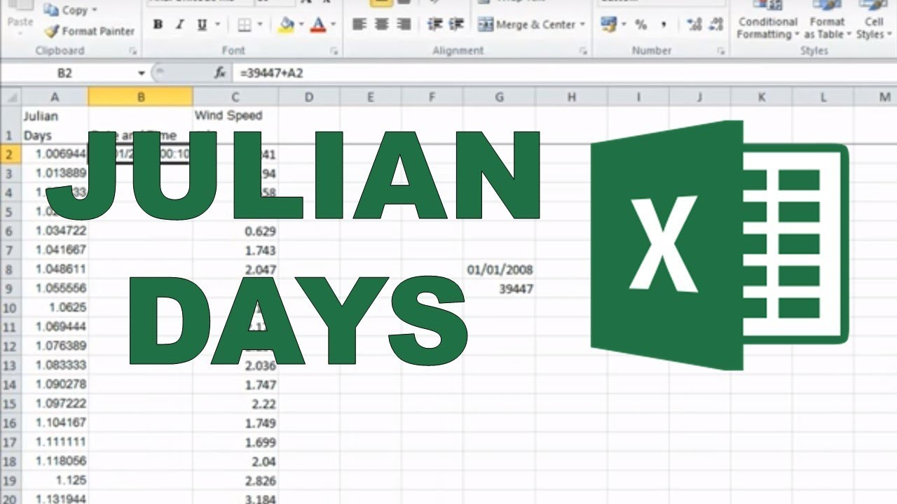 Converting Julian Days Into Date And Time In Excel In Online Convert Julian Date To Calendar Date