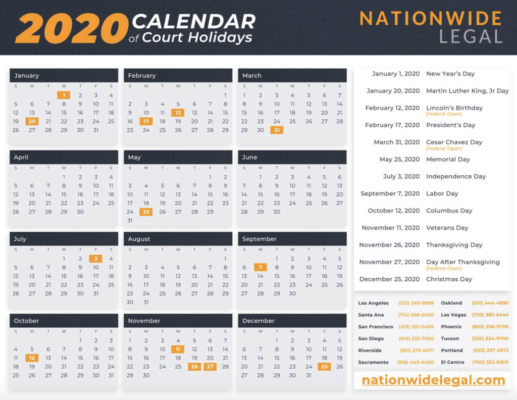 Courts - Nationwide Legal For San Diego Court Calendar