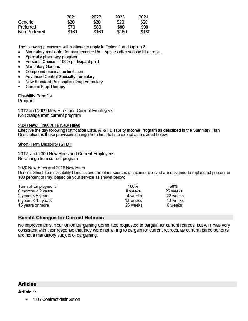 Cwa & At&t Final Bargaining Report Cwa District 9   Cwa 9003 Intended For Lodi Unified School District Calendar 2021 20
