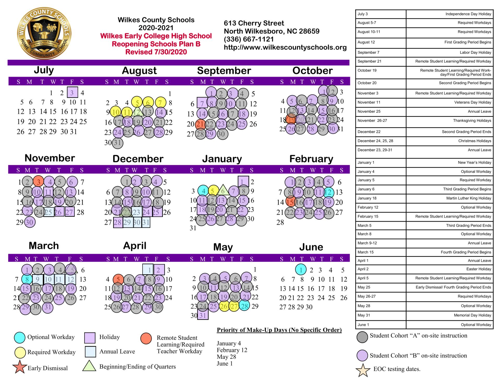 District Calendars – District – Wilkes County Schools For Hall Co Ga School Calendar