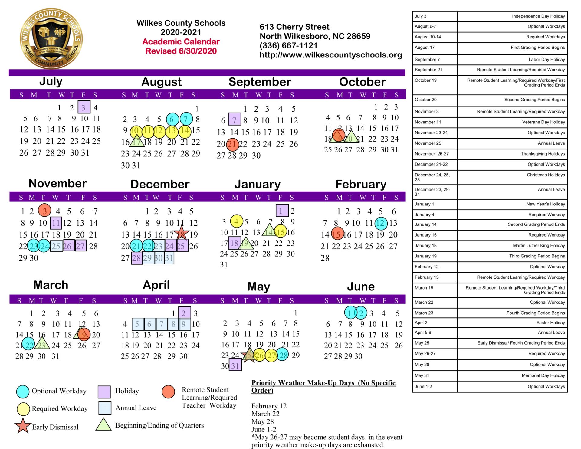 District Calendars – District – Wilkes County Schools Within Hall Co Ga School Calendar