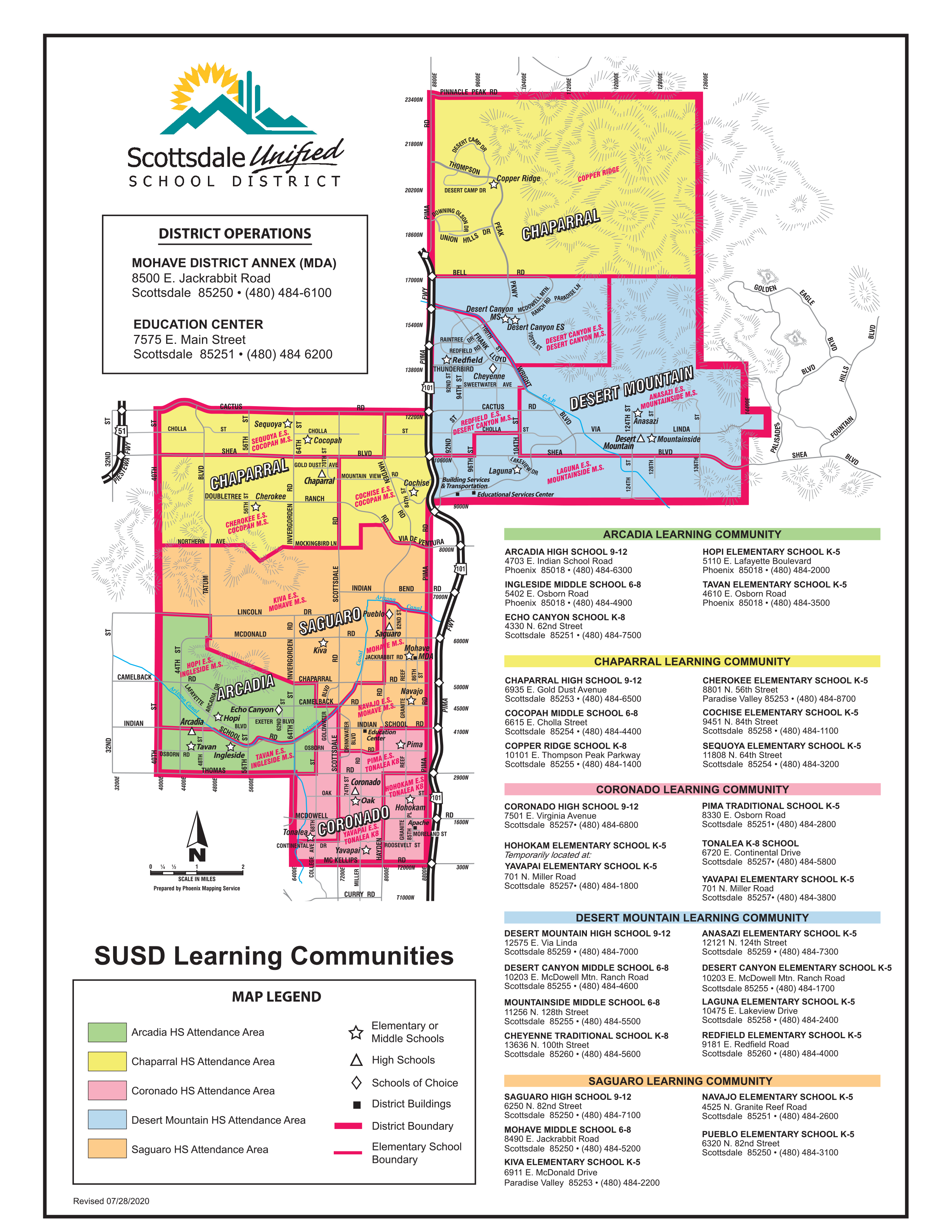 District Map / Our District Map Within Scottsdale Unified School District Calendar