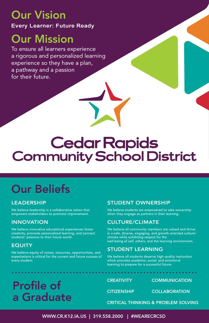 District Visioning   Cedar Rapids Community School District Pertaining To Cedar Rapids School District Calendar
