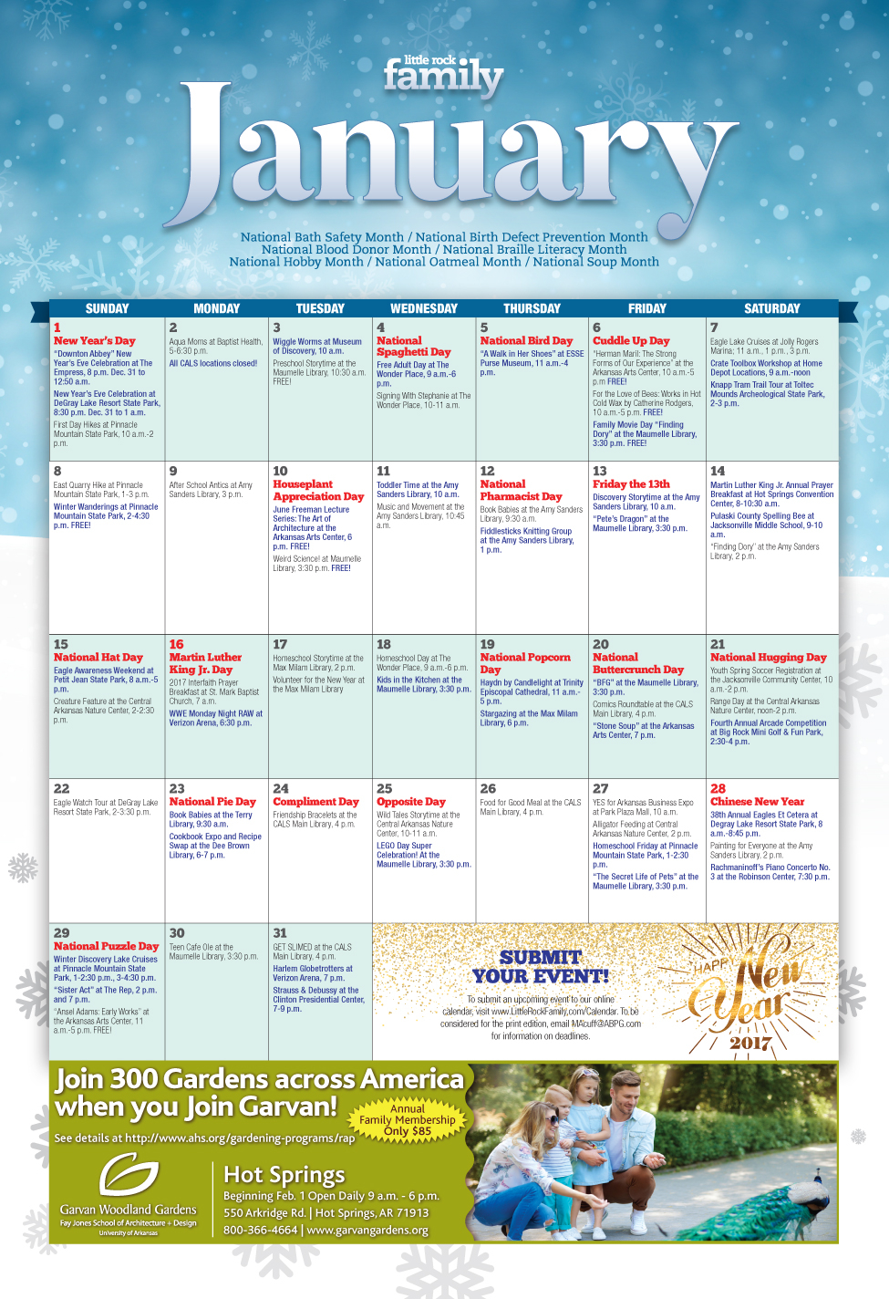 Enjoy January With 66 Fun Winter Events | Little Rock Family in Little Rock January Event Calendar