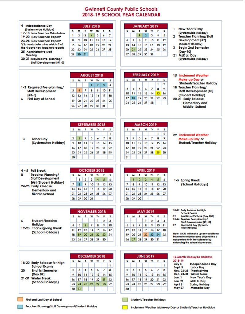 Gwinnett Adding Fall Break In 2018 2019 School Year | 夏休み Pertaining To Lenoir County 2021 2021 School Calendar