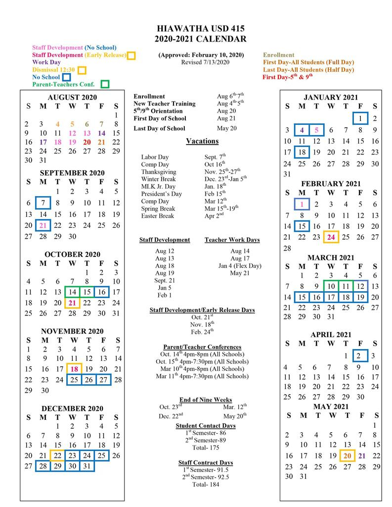 Hiawatha Schools Usd 415 Within Turning Stone Bingo Calendar For February 2020