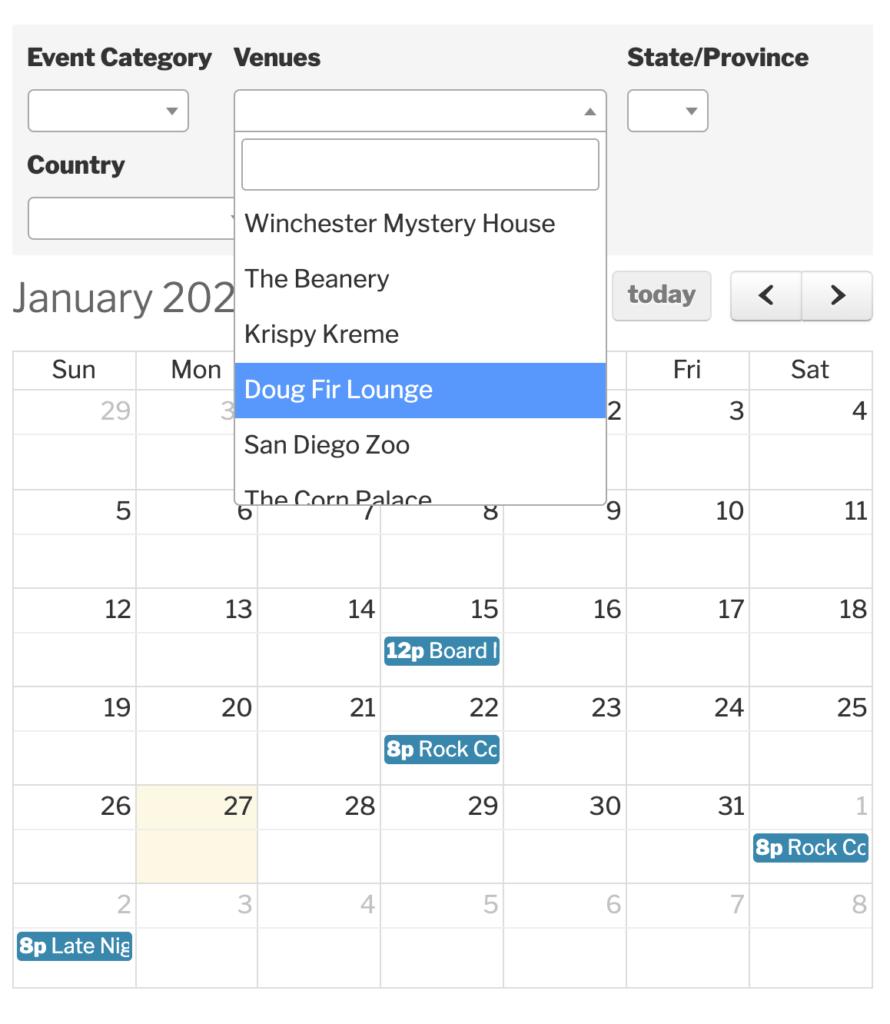 How To Create Custom Filters For The Events Calendar Regarding Little Rock January Event Calendar