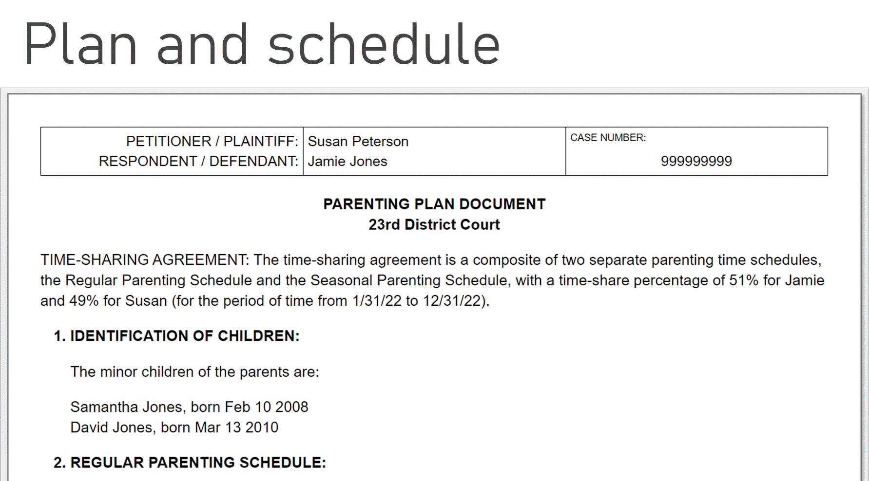 How To Make A Child Custody Calendar: Create & Print Easily with Family Law Court Calender San Diego