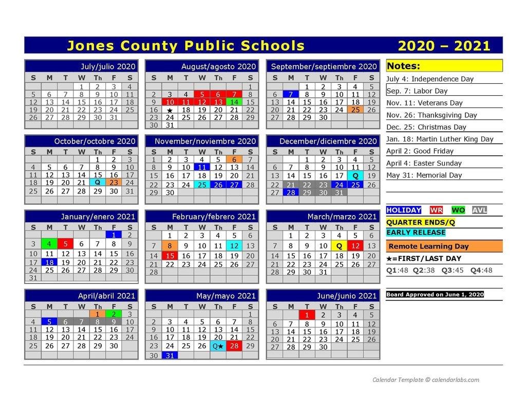 Jones County Public Schools Calendar 2020 And 2021 With Regard To Lenoir County 2021 2021 School Calendar