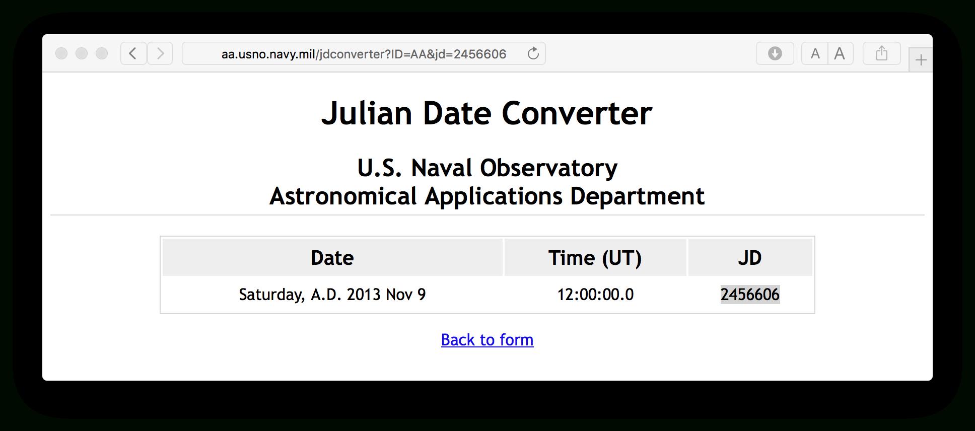 Julian Date To Regular Date Conversion - Stack Overflow with regard to Online Convert Julian Date To Calendar Date