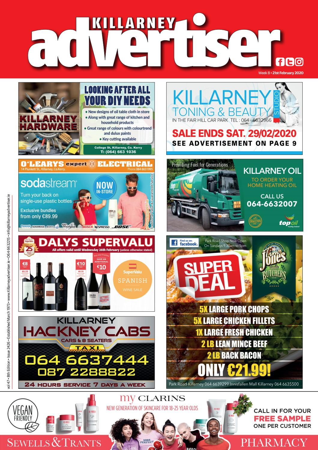 Killarney Advertiser 21St February 2020Killarney With Regard To Turning Stone Bingo Calendar For February 2020