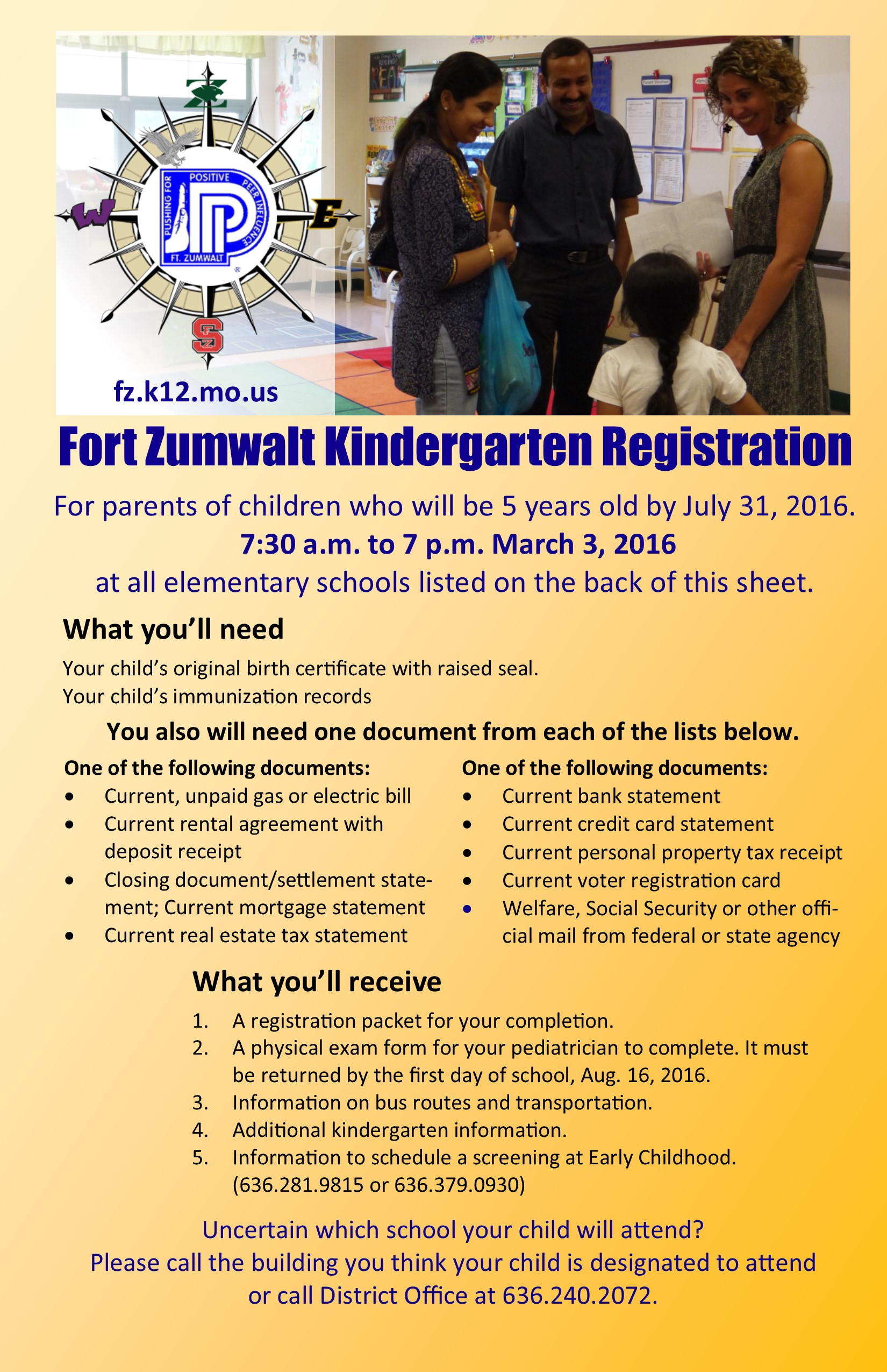 Kindergarten 2016 2017 – Fort Zumwalt Westhoff Elementary School Regarding Fort Zumwalt Academic Calendar