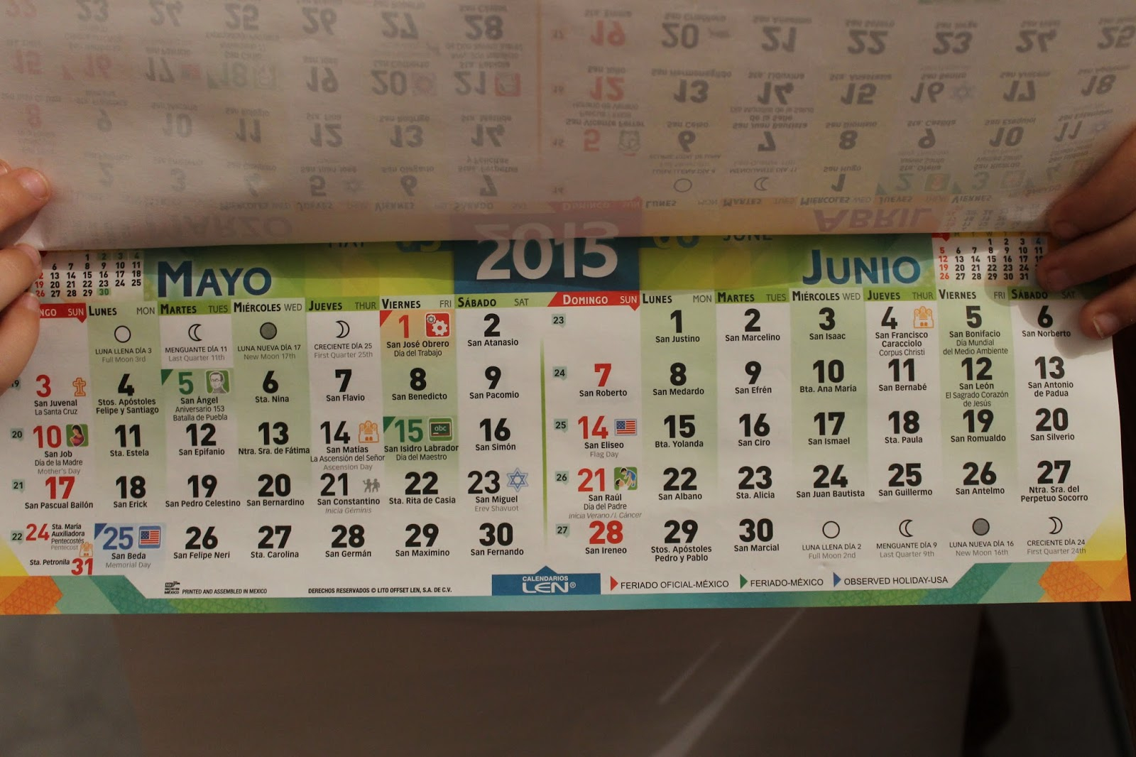 Loving The Land Of The Flour Tortilla: Octubre 2015 within Mexican Calendar With Saint Names
