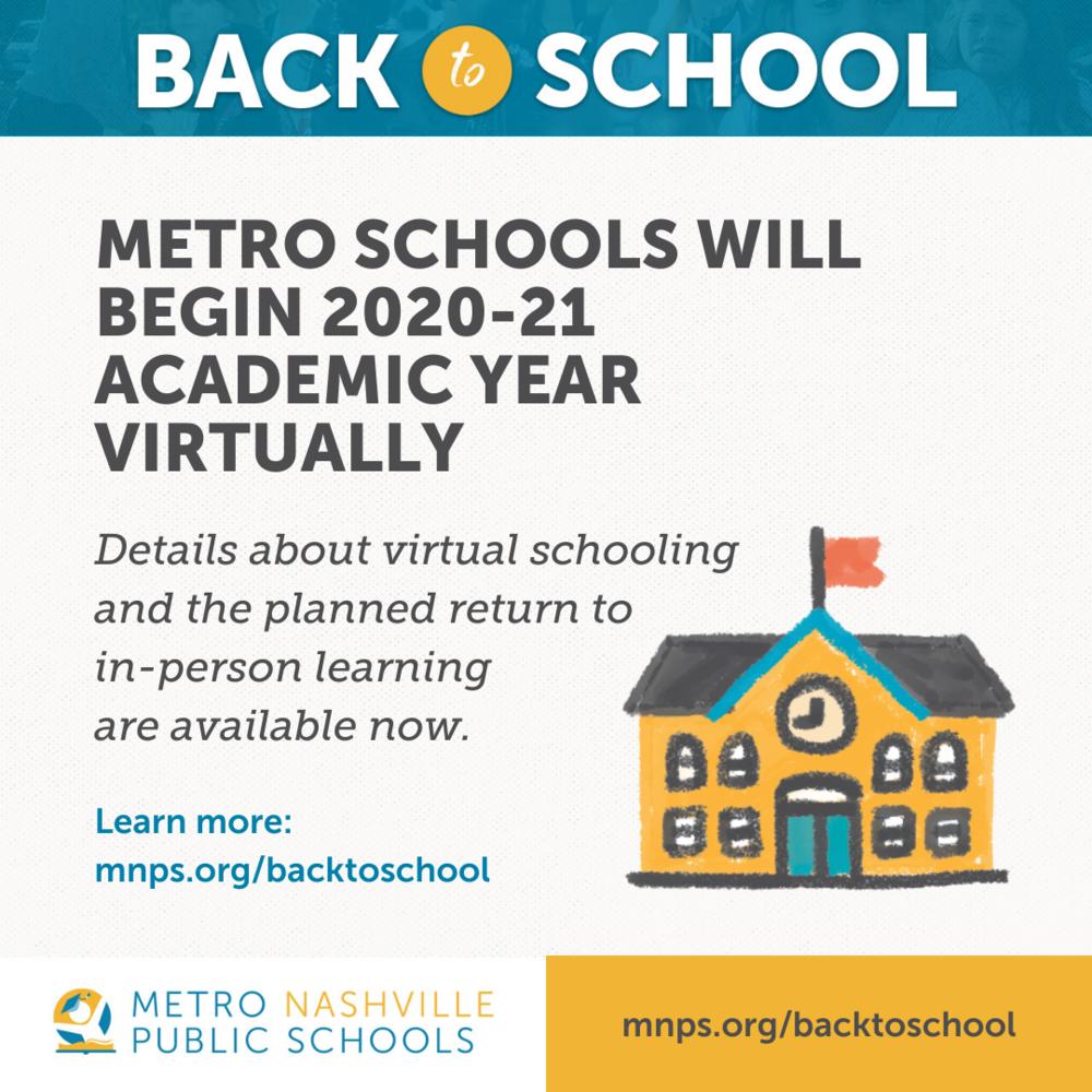 Metro Schools Will Begin 2020 21 School Year Virtually Throughout Davidson County Tn School Calendar 2021 2020