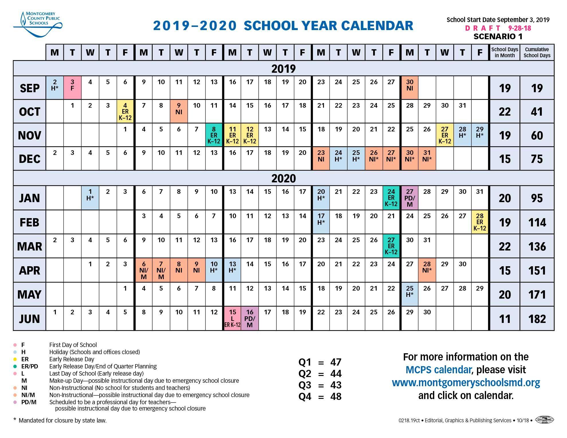 Montgomery County Public Schools Calendar 2019   Магазины In Shenandoah County Public Schools Calendar