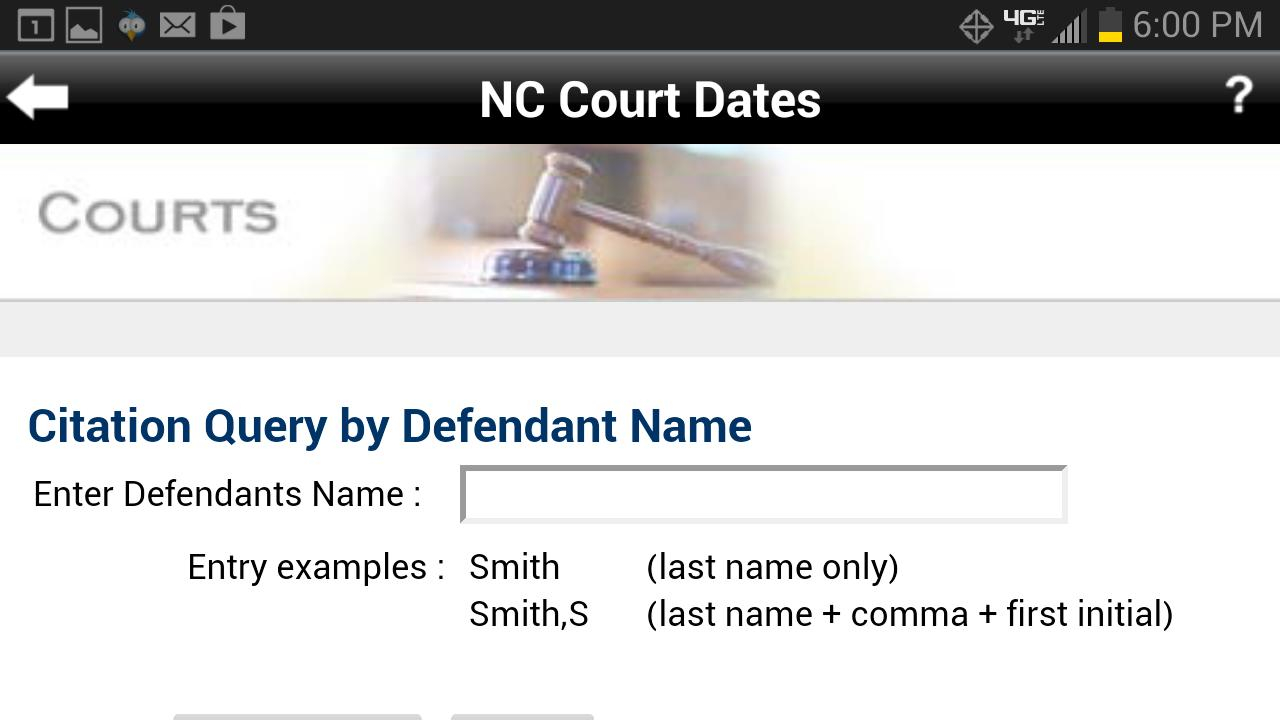Nc Court Date Finder For Android - Apk Download With Regard To Nc Court By Defendant Name