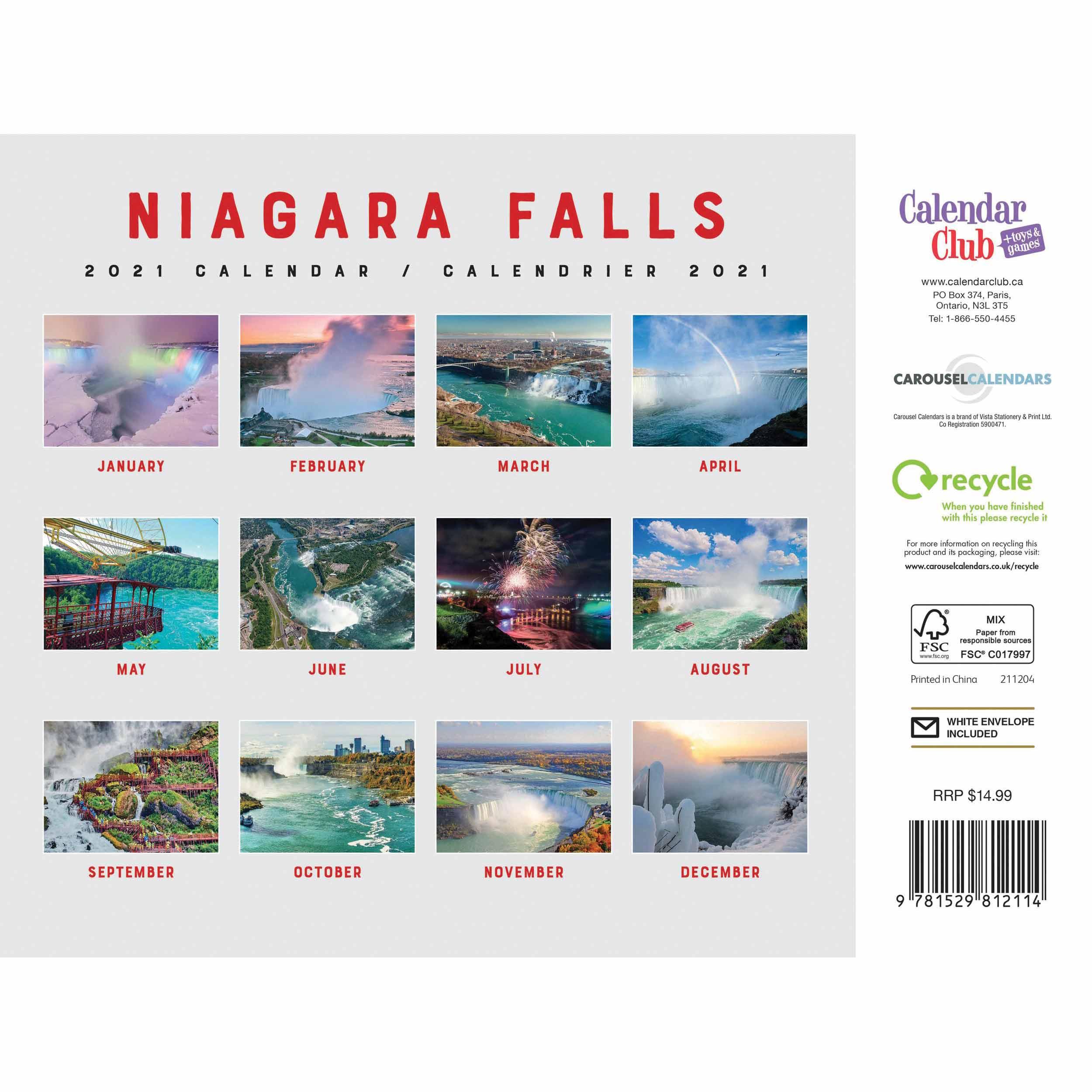 Niagara Falls A4 Calendar 2021 At Calendar Club With Niagara Falls School Calendar 2021