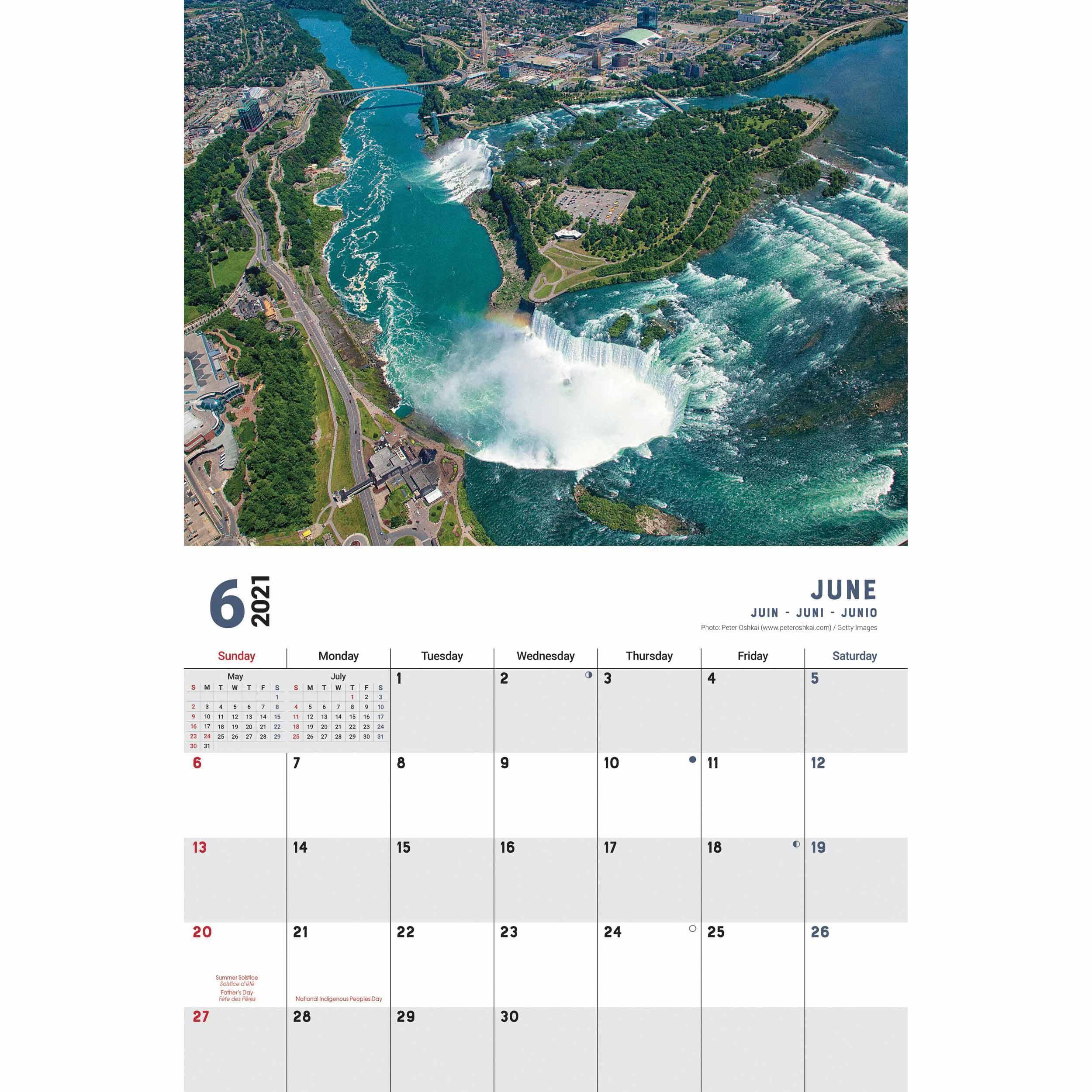 Niagara Falls A4 Calendar 2021 At Calendar Club With Regard To Niagara Falls School Calendar 2021