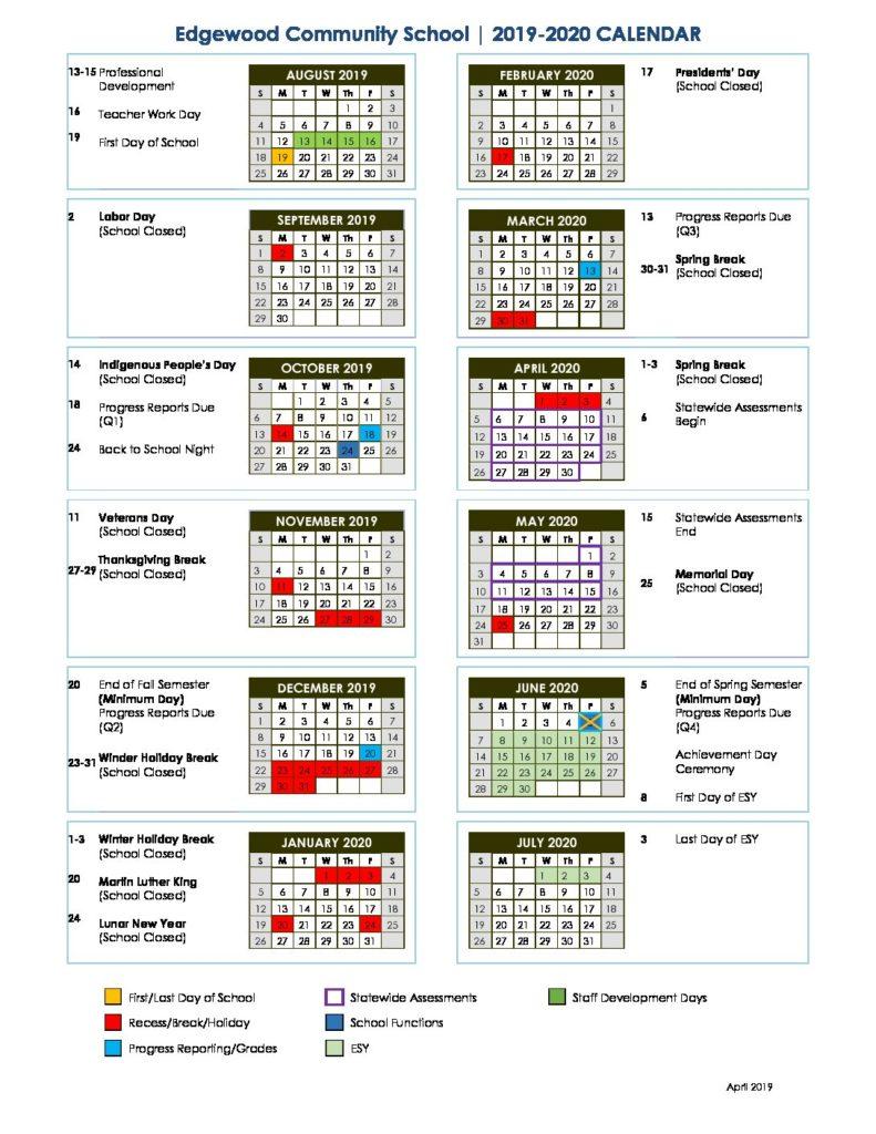 Non Public Schools – Edgewood Center For Children And Families Pertaining To San Rafael School District Calendar