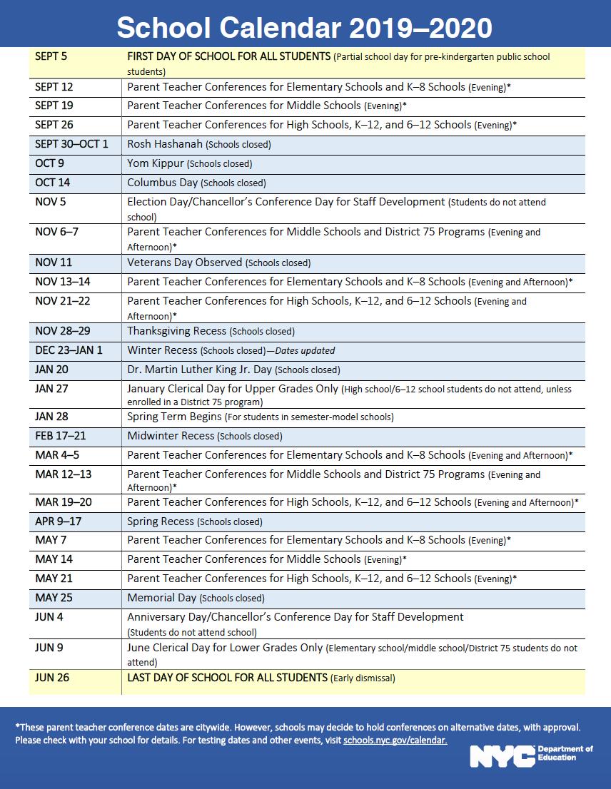 Nyc Doe Calendar — Acorn Community High School Intended For Nyc Dept Of Ed Calendar