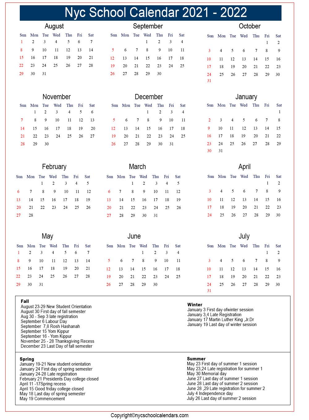 Nyc School Calendar 2021 ✅❤️ within Oyster Bay Calendar 2021