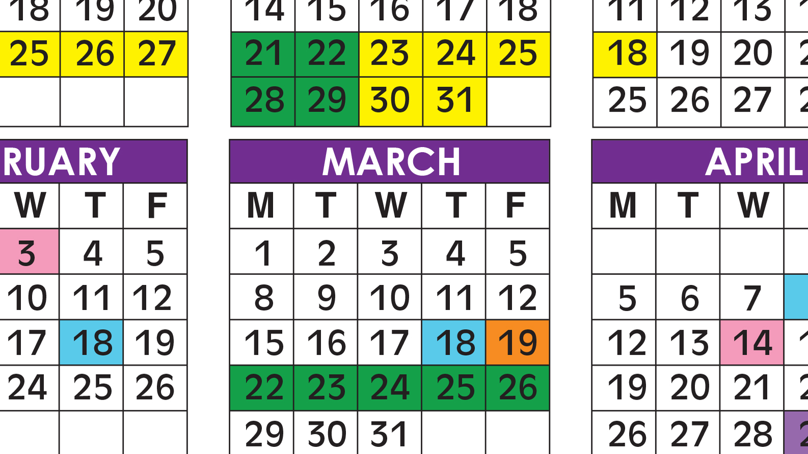 Official 2020/21 Broward County Public Schools Color Throughout Port St Lucie School District Calendar