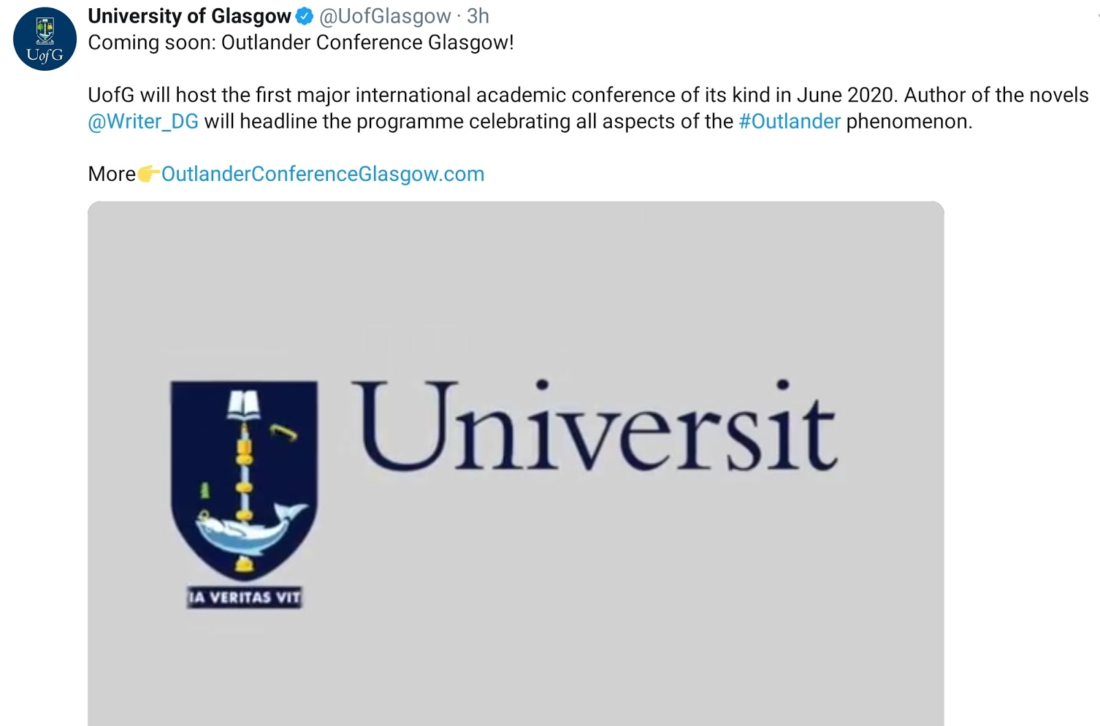 Outlander Homepage: Future Appearances In University Of Glasgow Holiday Calender 2021