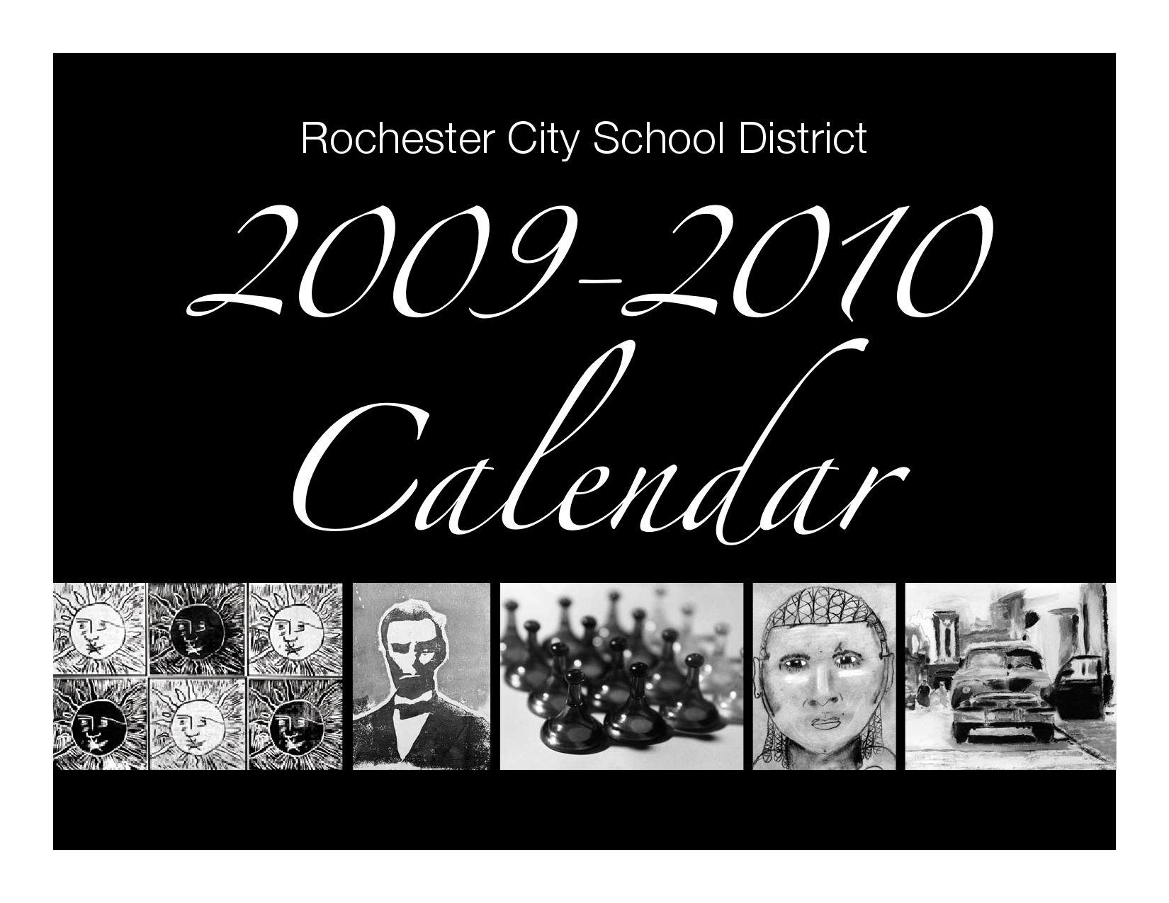 Rochester City School District Calendar 2009-2010Sam regarding Rochester City School District Calendar