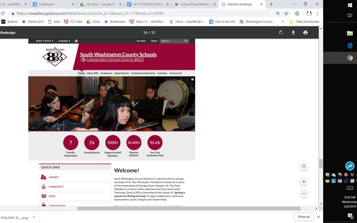School Board: New Website, Revised School Calendar | Rivertowns For Washington County Mn Court Caledar