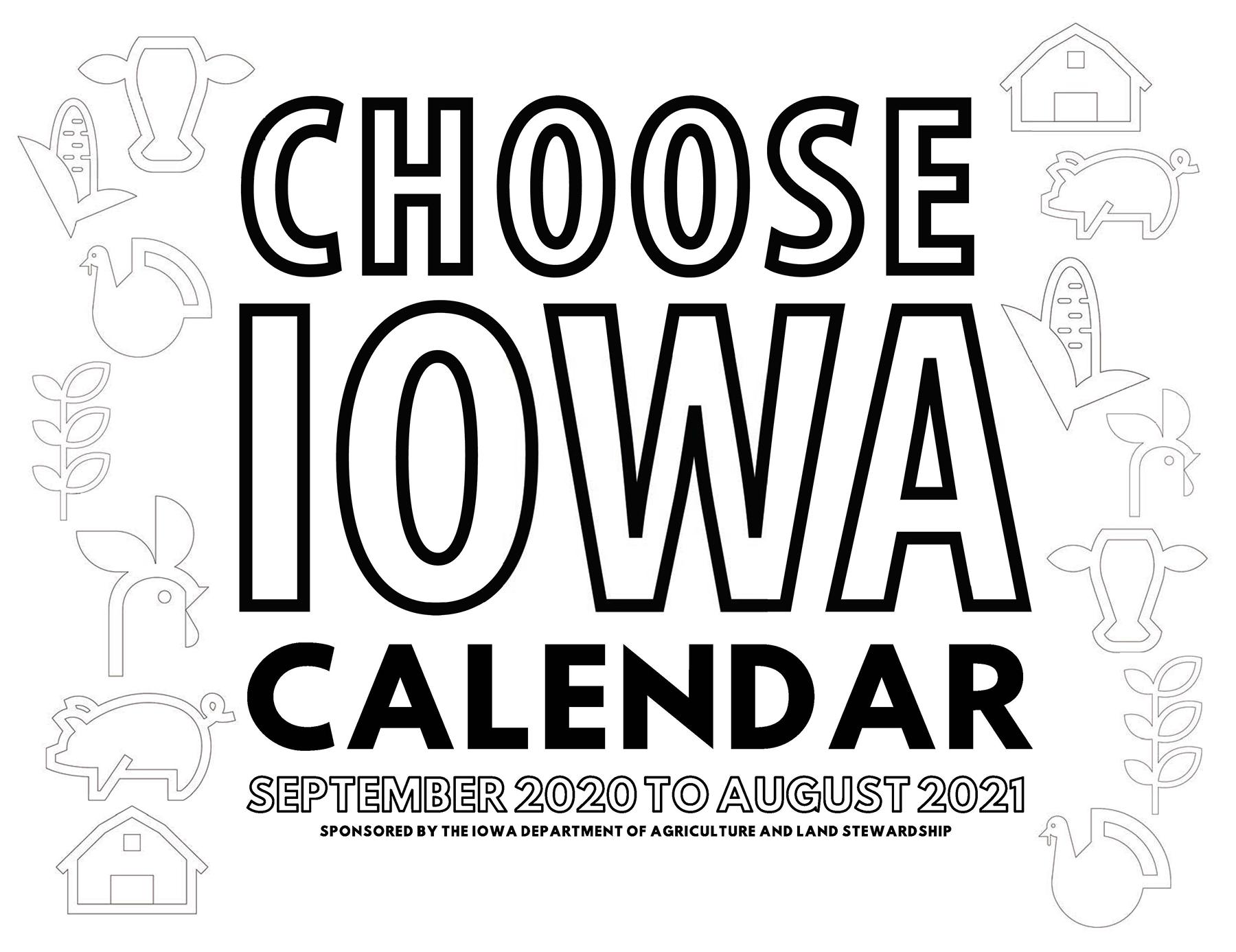 Secretary Naig Announces 2020 Choose Iowa Calendar Contest With Regard To Des Moines Calendar Of Events 2021