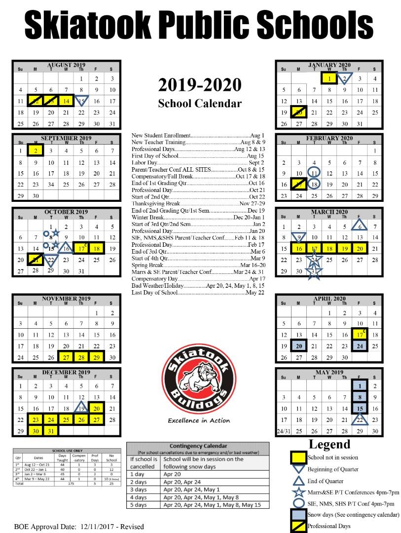 Skiatook Public Schools – District Calendar Within Academic Calendar 2021 Tulsa University