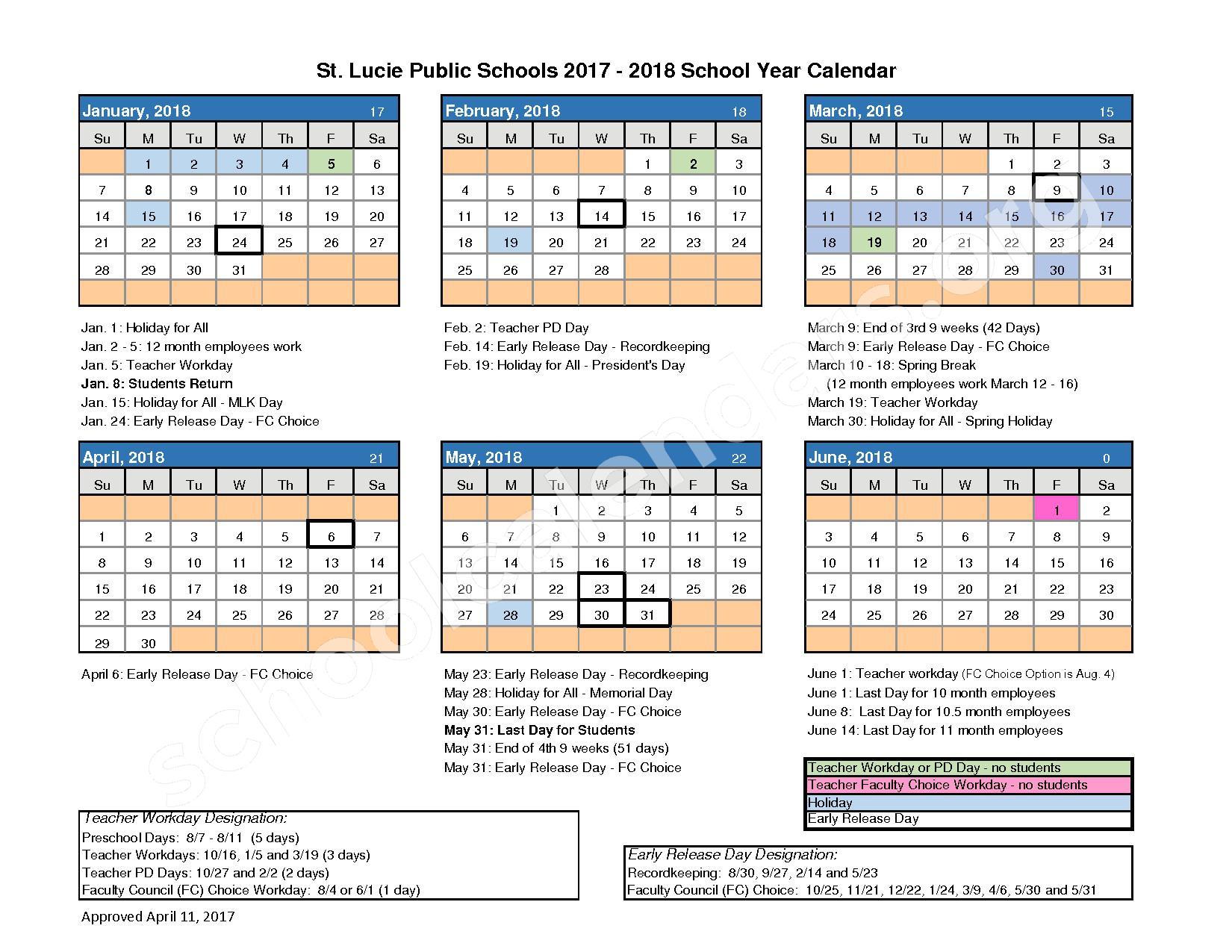 St. Lucie West Centennial High School Calendars – Port St with regard to Port St Lucie School District Calendar