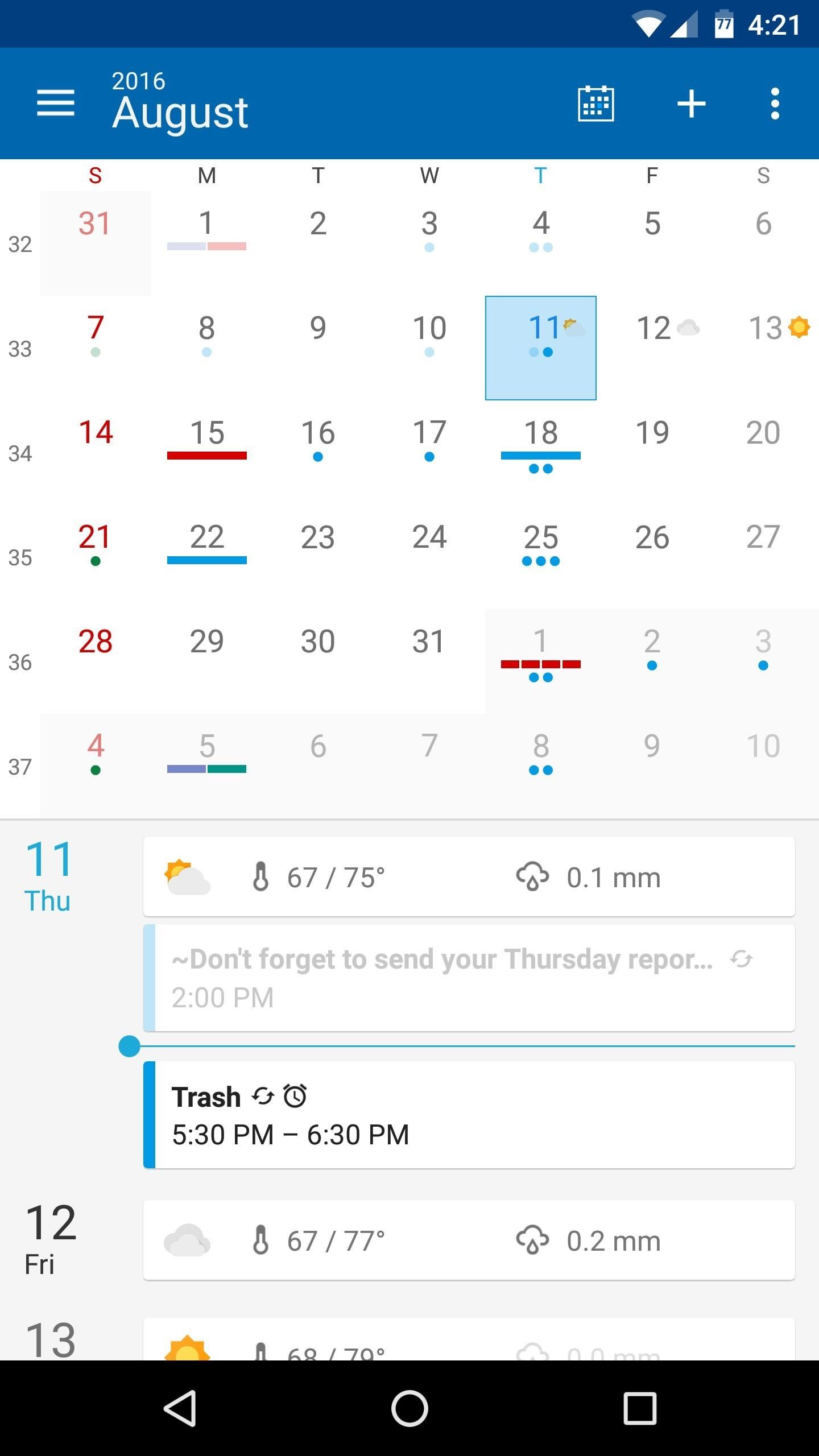 The 5 Best Android Calendar Apps To Replace Your Stock One Intended For Yahoo Calendar App Android