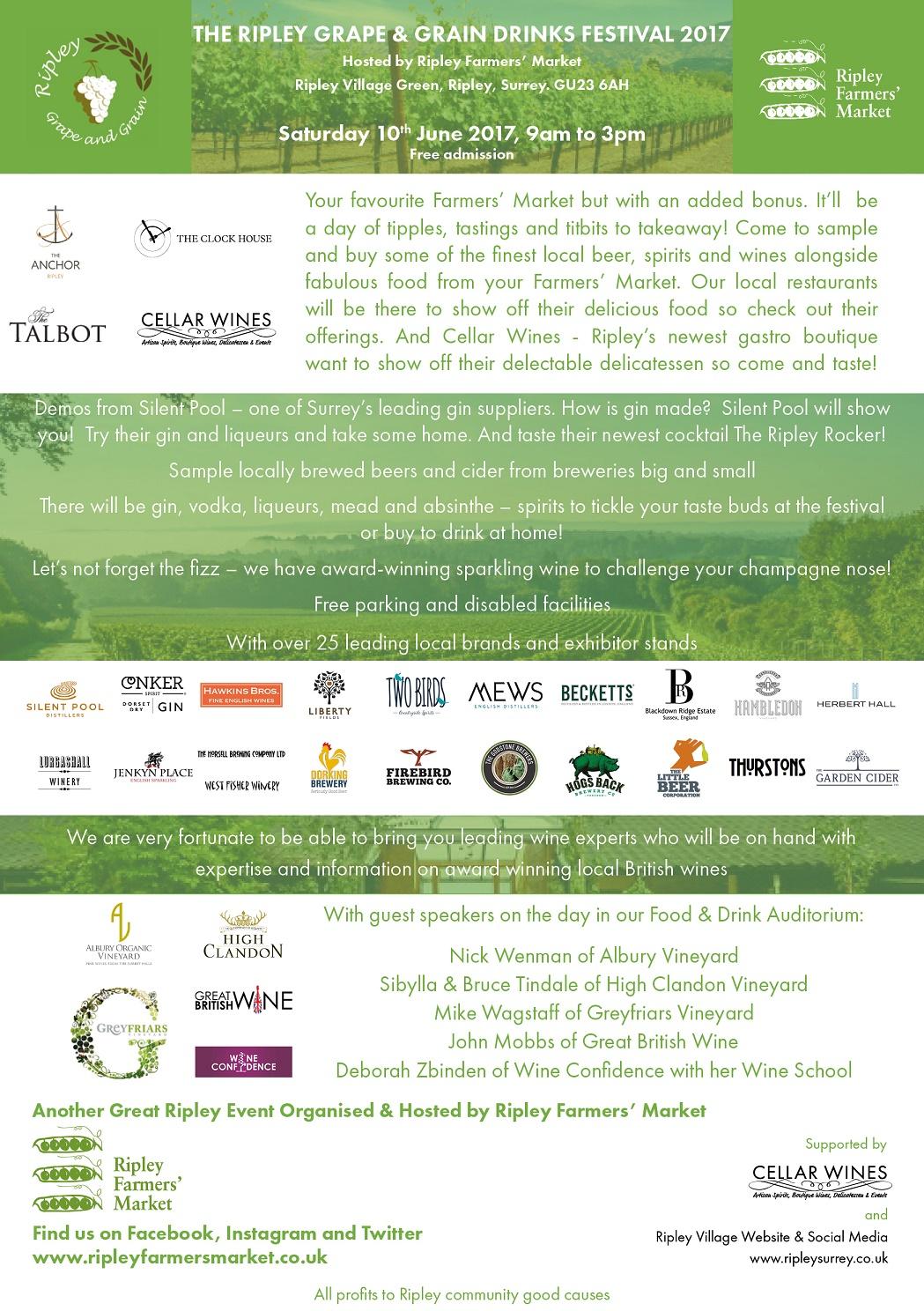The Ripley Grape And Grain Drinks Festival | Surrey Hills Regarding Ripley Trade Days Schedule