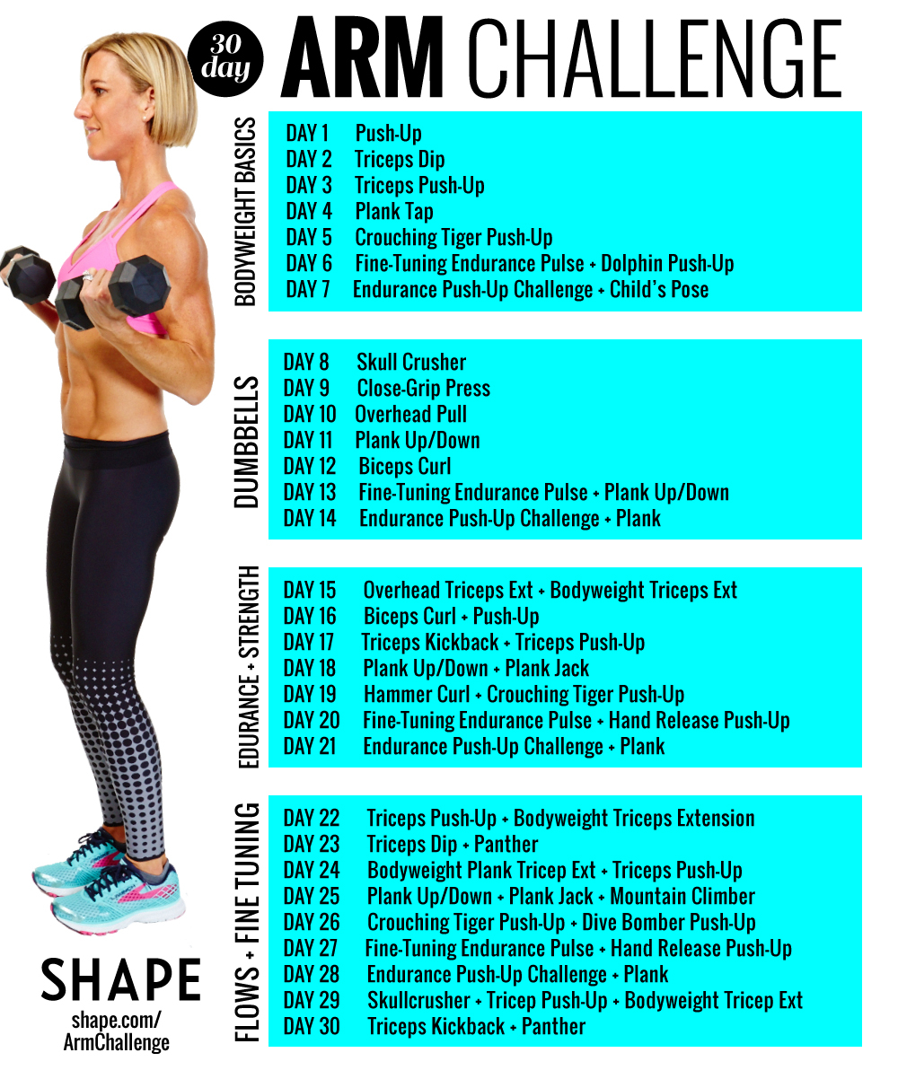 The Super Sweaty 30 Day Arm Challenge That Will Sculpt Your In 30 Day Arm Challenge Pdf