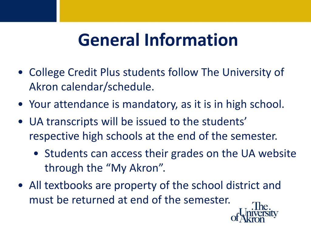 The University Of Akron - Ppt Download Within University Of Akron Calendar