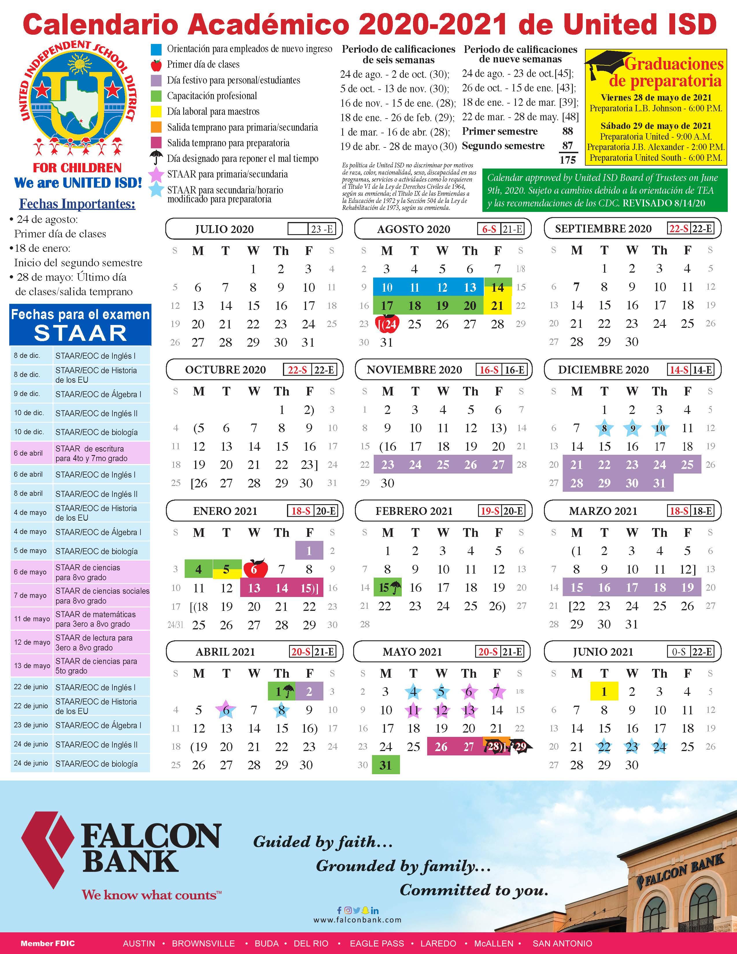 United Isd – Academic Calendar With University Of California Santa Barbara Academic Calender