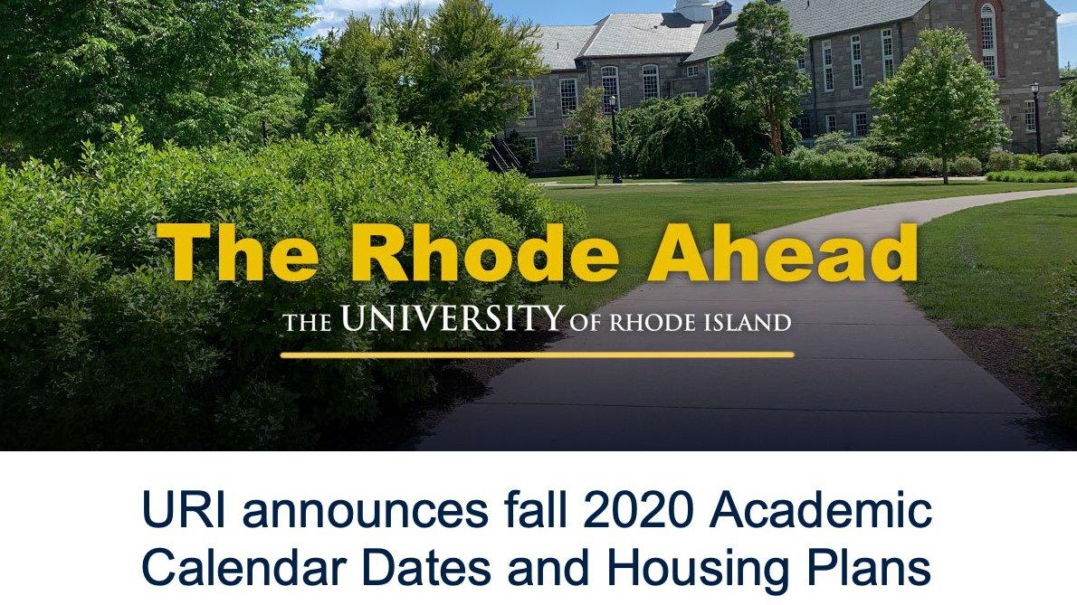 "Uri On Twitter: ""uri Announces Fall 2020 Academic Calendar in University Of Rhode Island Calendar"