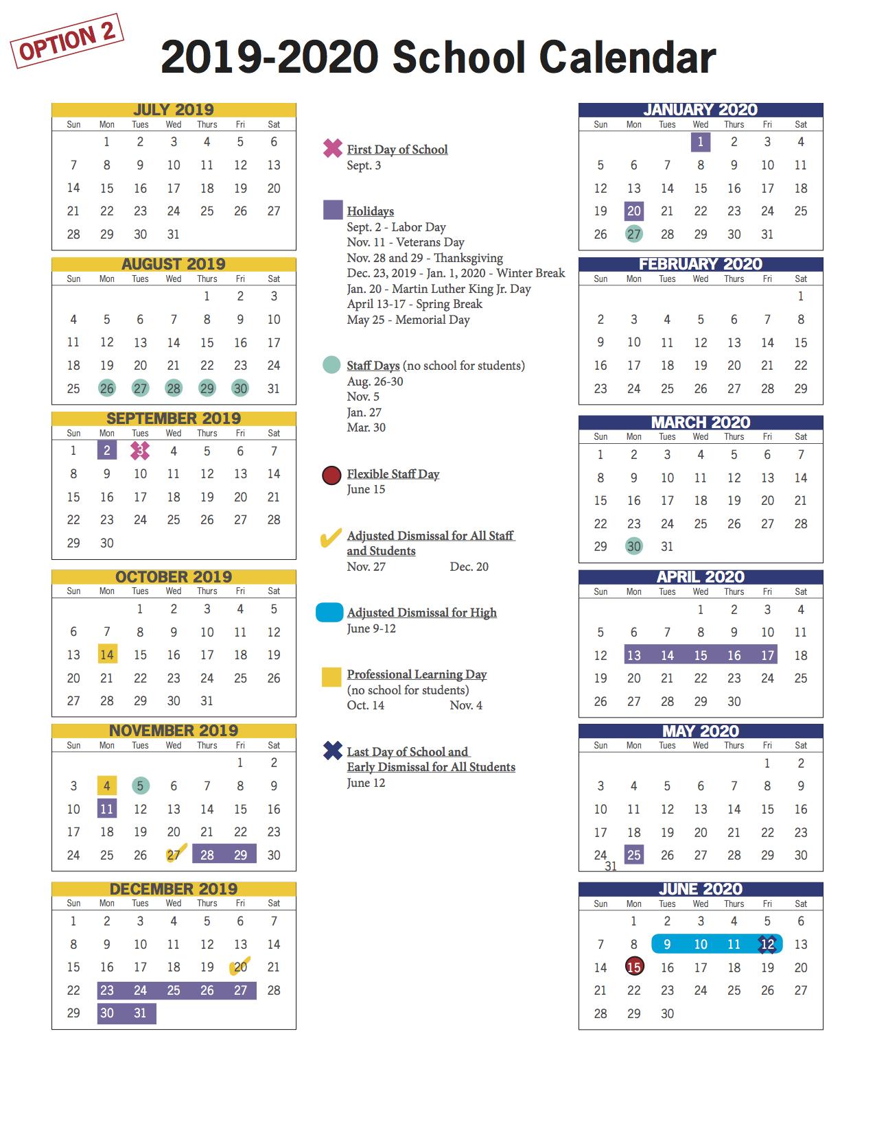 Vbcps E-Town Hall - 2018-2019 And 2019-2020 School Calendar regarding Va Beach Schools Staff Calendar