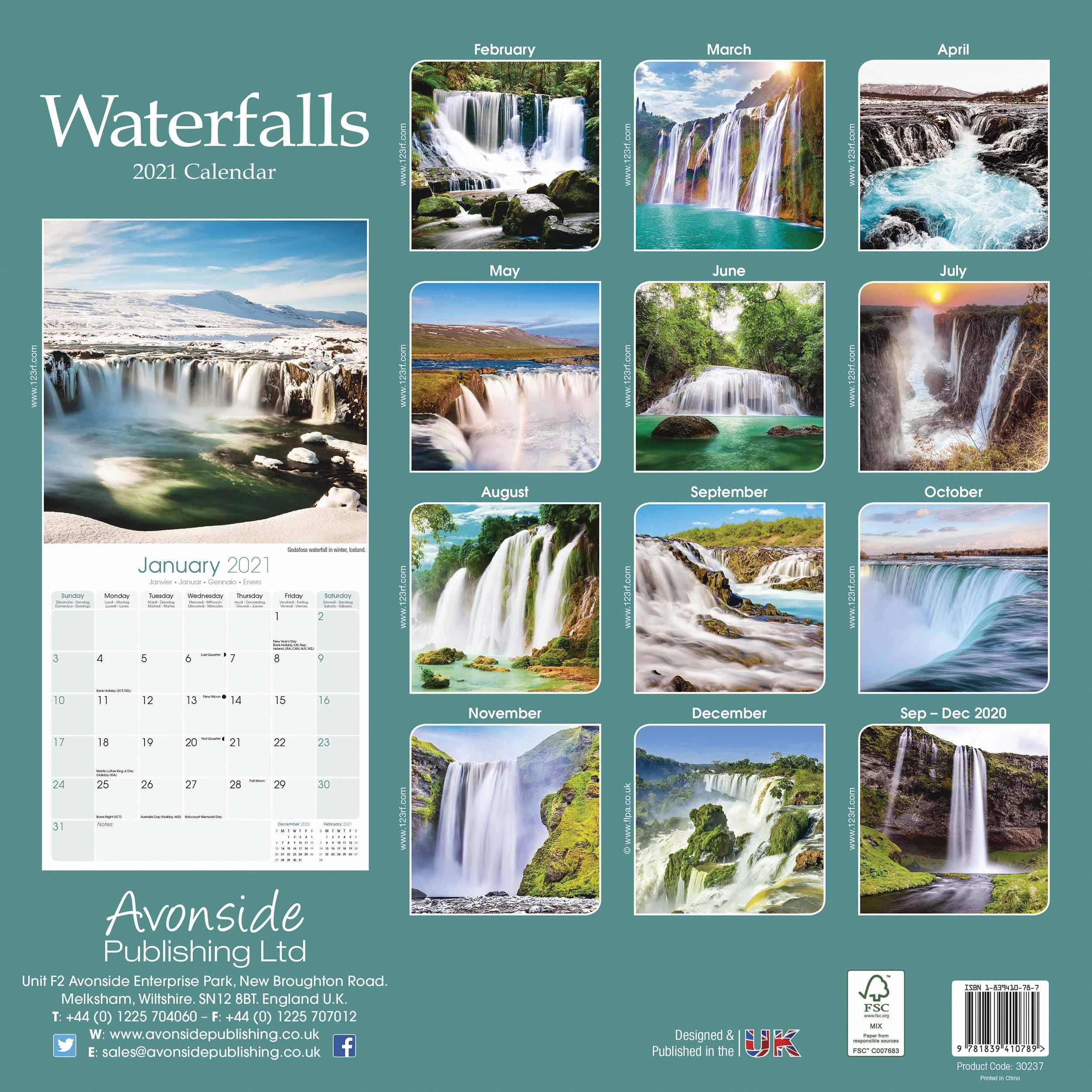 Waterfalls Calendar 2021 At Calendar Club With Niagara Falls School Calendar 2021