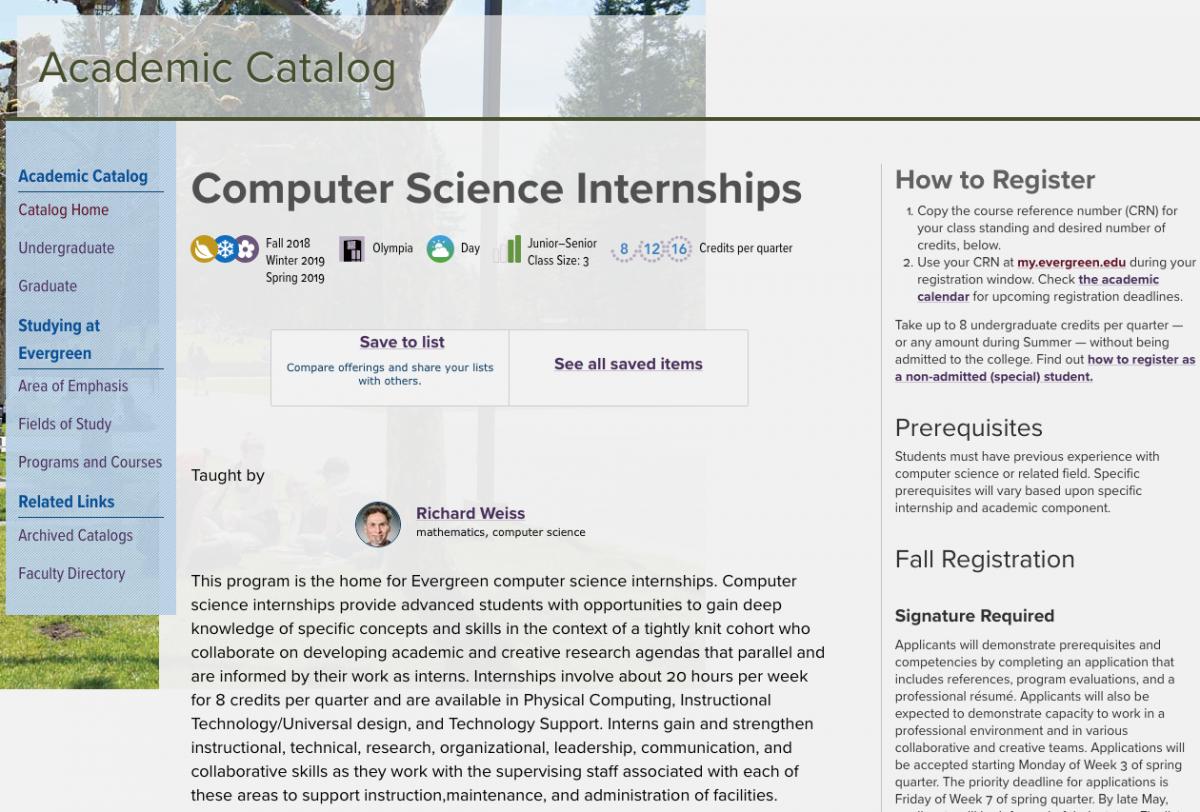Week 20 | Curricular Technologies Internship 2018: Lukas Malone Throughout Evergreen State College Academic Calenar