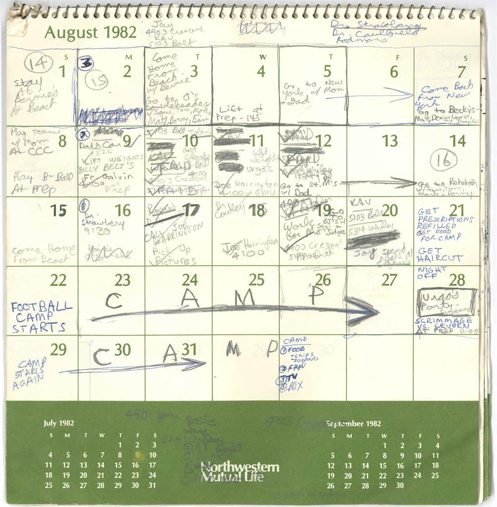 What's In Kavanaugh's '82 Calendar: Sports, Movies, Parties In San Diego Court Calendar