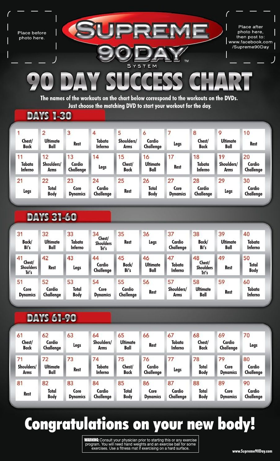 Workout Schedule | | 90 Day Workout Plan, Supreme 90 Day with regard to 90 Day Supreme Workout Calendar