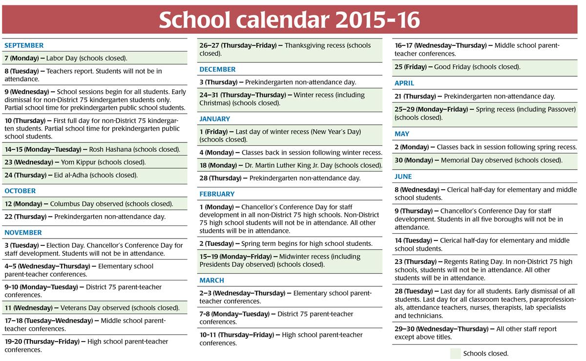 Yangah Solen: Nyc Doe Calendar within Nyc Doe Calendar 2015 2020