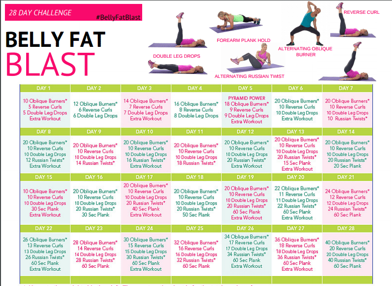 1 Month To Awesome Abs Challenge – Get Healthy U Within 30 Days Abs Challenge Calendar