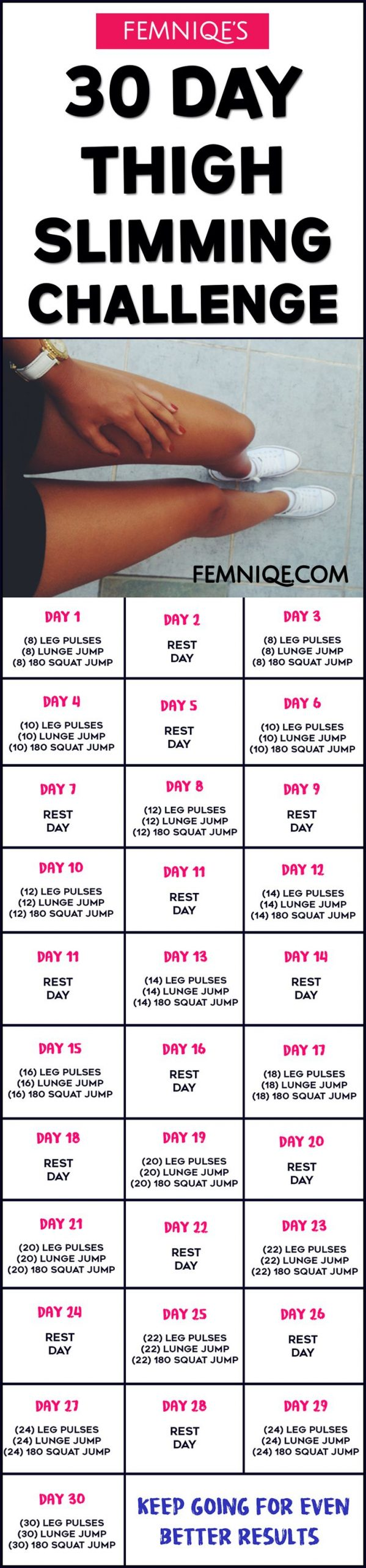 109 Best 30 Day Challenge Images On Pinterest | Challenge With 30 Day Thigh Workout Free Printout